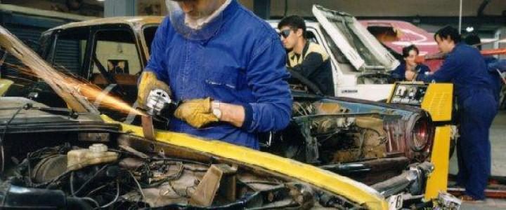 Posicionado y control de la estructura en bancada. TMVL0309 - Mantenimiento de estructuras de carrocerías de vehículos