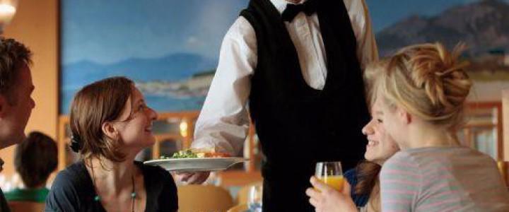 Curso gratis Servicio y atención al cliente en restaurante. HOTR0608 - Servicios de Restaurante online para trabajadores y empresas