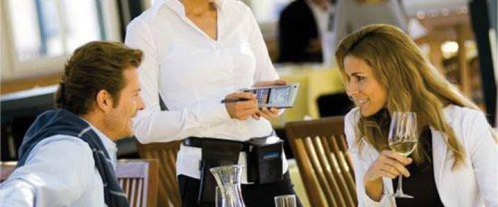 Curso gratis UF0259 Servicio y Atención al Cliente en Restaurante online para trabajadores y empresas