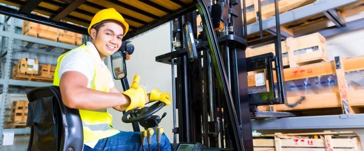 Curso gratis de Prevención de Riesgos Laborales en el Puesto de Trabajo con Carretillas Elevadoras online para trabajadores y empresas