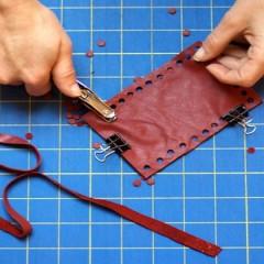 Preparador cosedor de cuero y napa